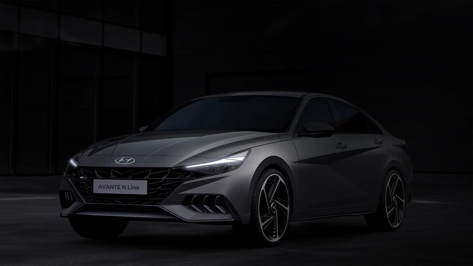 현대자동차 고성능 브랜드 올 뉴 아반떼 N라인 렌더링 공개 미래경제뉴스